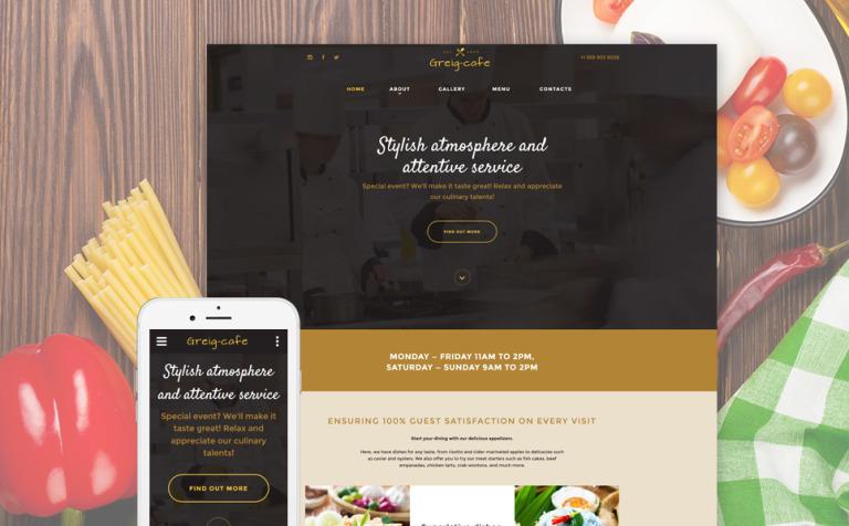 Plantilla Web #57813 para Sitio de Cafeterías y Restaurantes