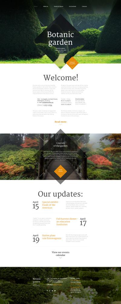 Responsive Plantilla Web #57871 para Sitio de  para Sitio de Diseño de jardines