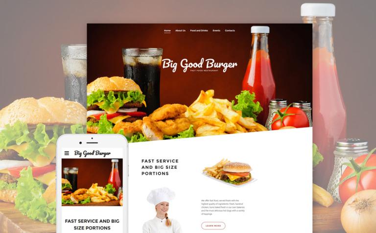Plantilla Web #57800 para Sitio de Restaurantes de comida rápida