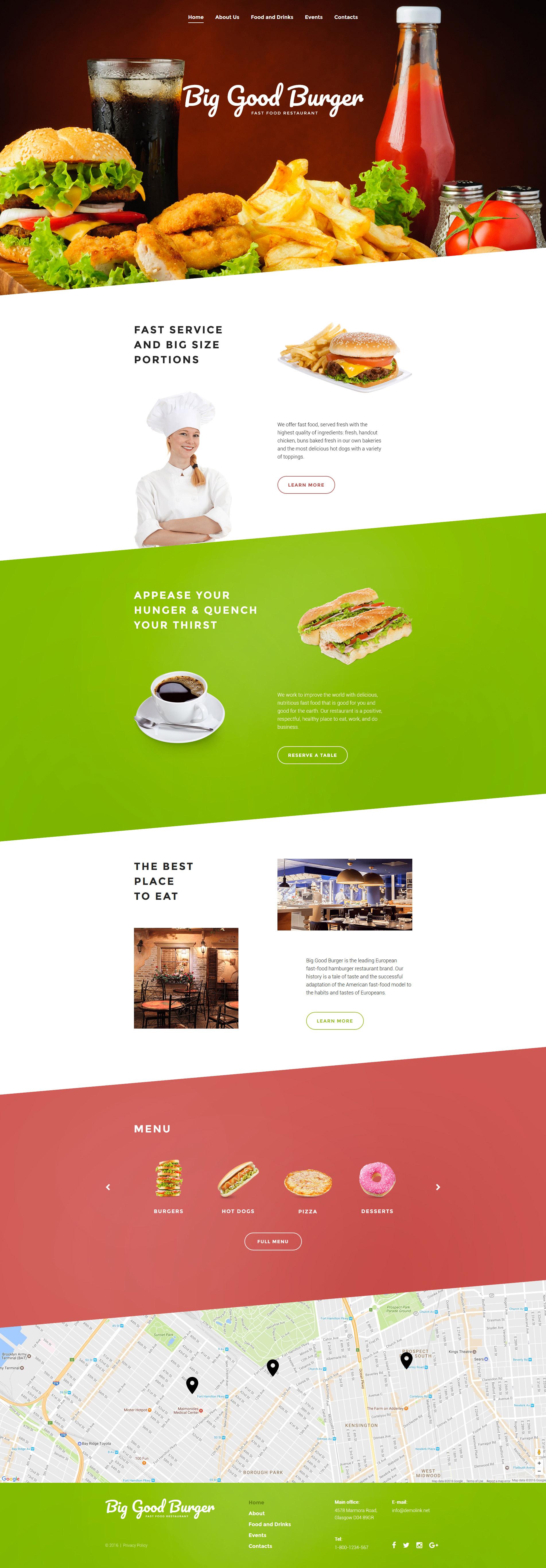 Plantilla Web #51109 para Sitio de Restaurantes de comida rápida