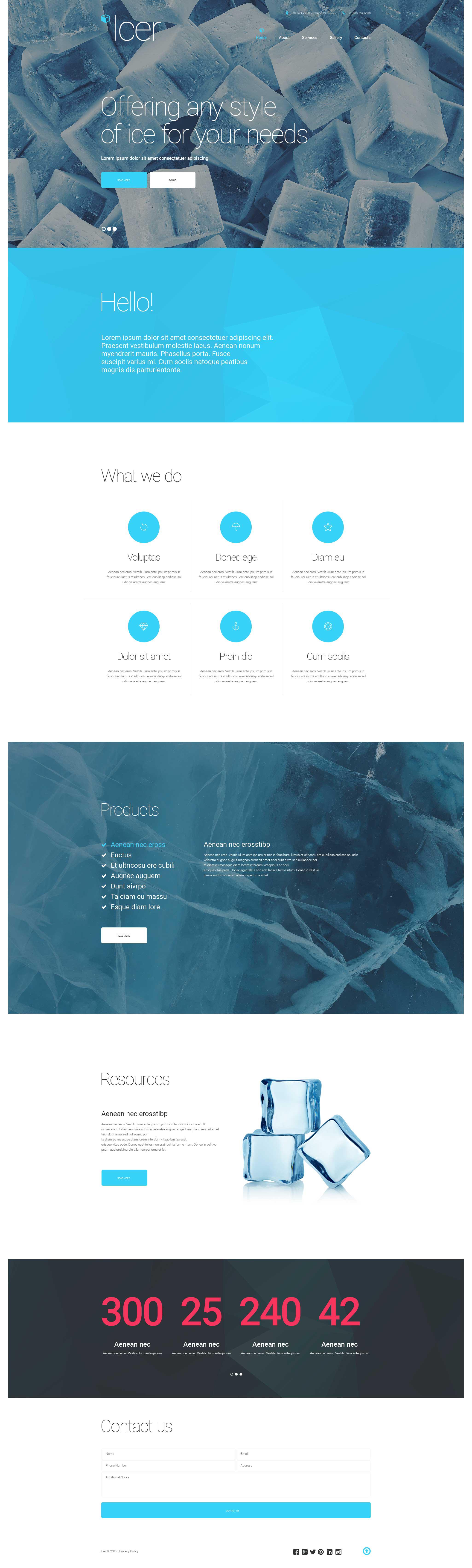Plantilla Web Responsive para Sitio de Agua #57877