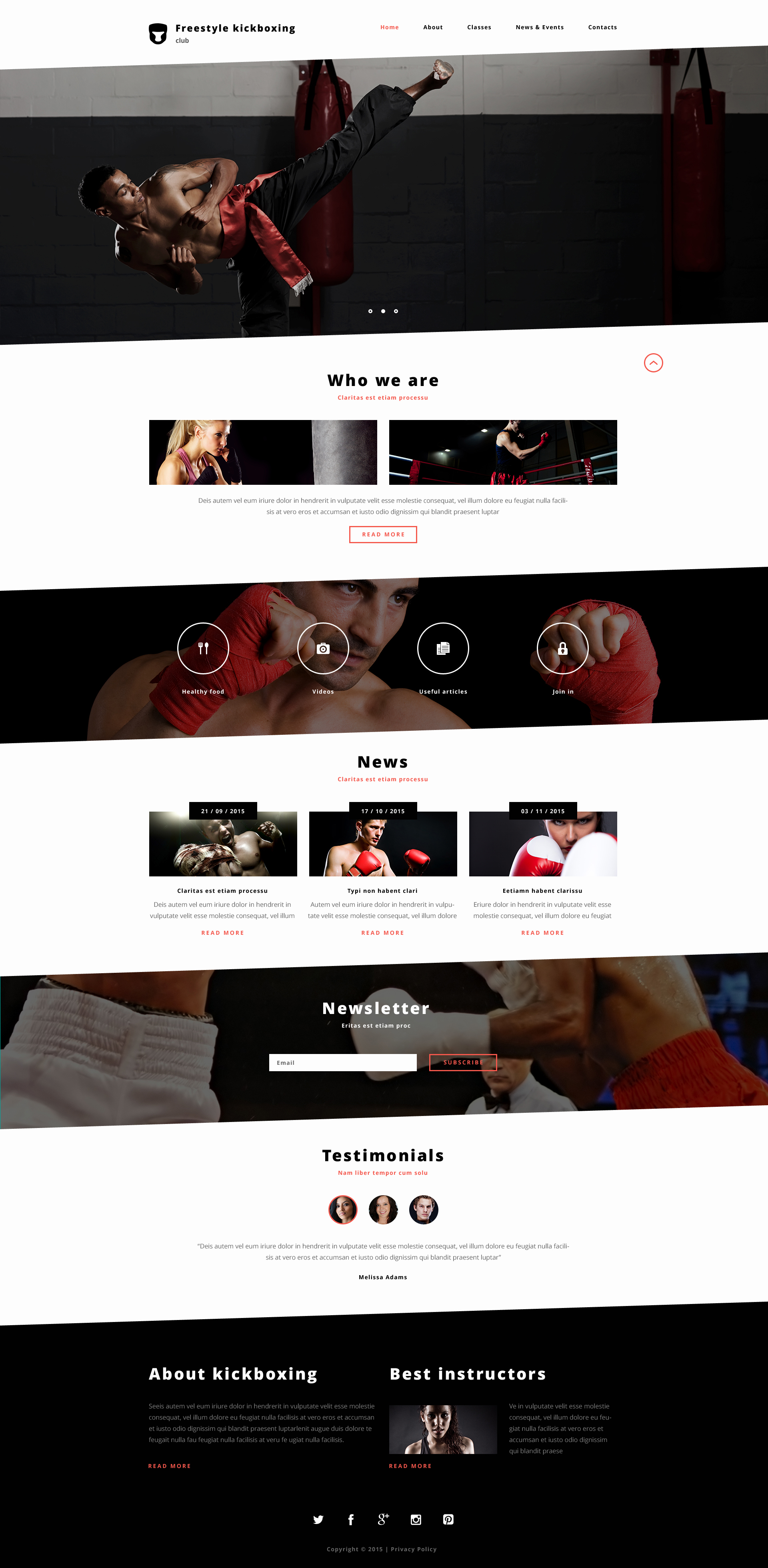 Plantilla Web Responsive para Sitio de Boxeo #57881