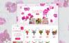 PrestaShop шаблон на тему магазин квітів New Screenshots BIG