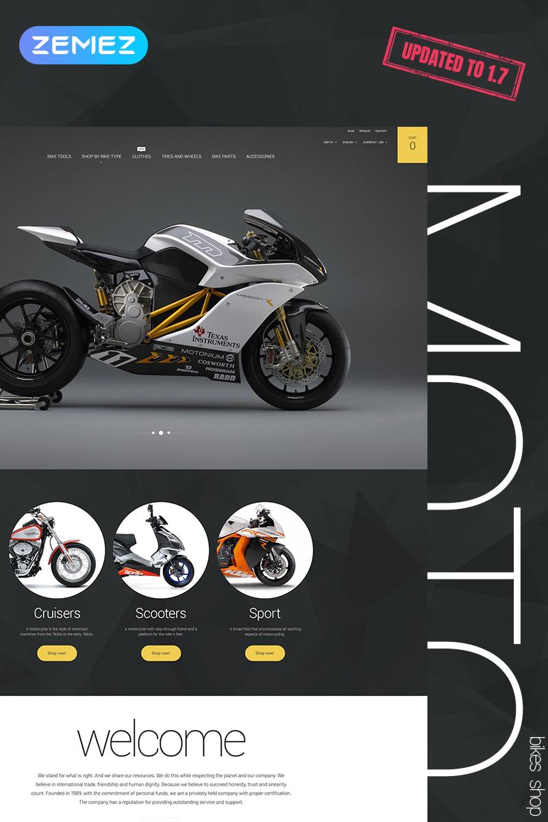 """PrestaShop Theme namens """"Moto"""" #57832"""
