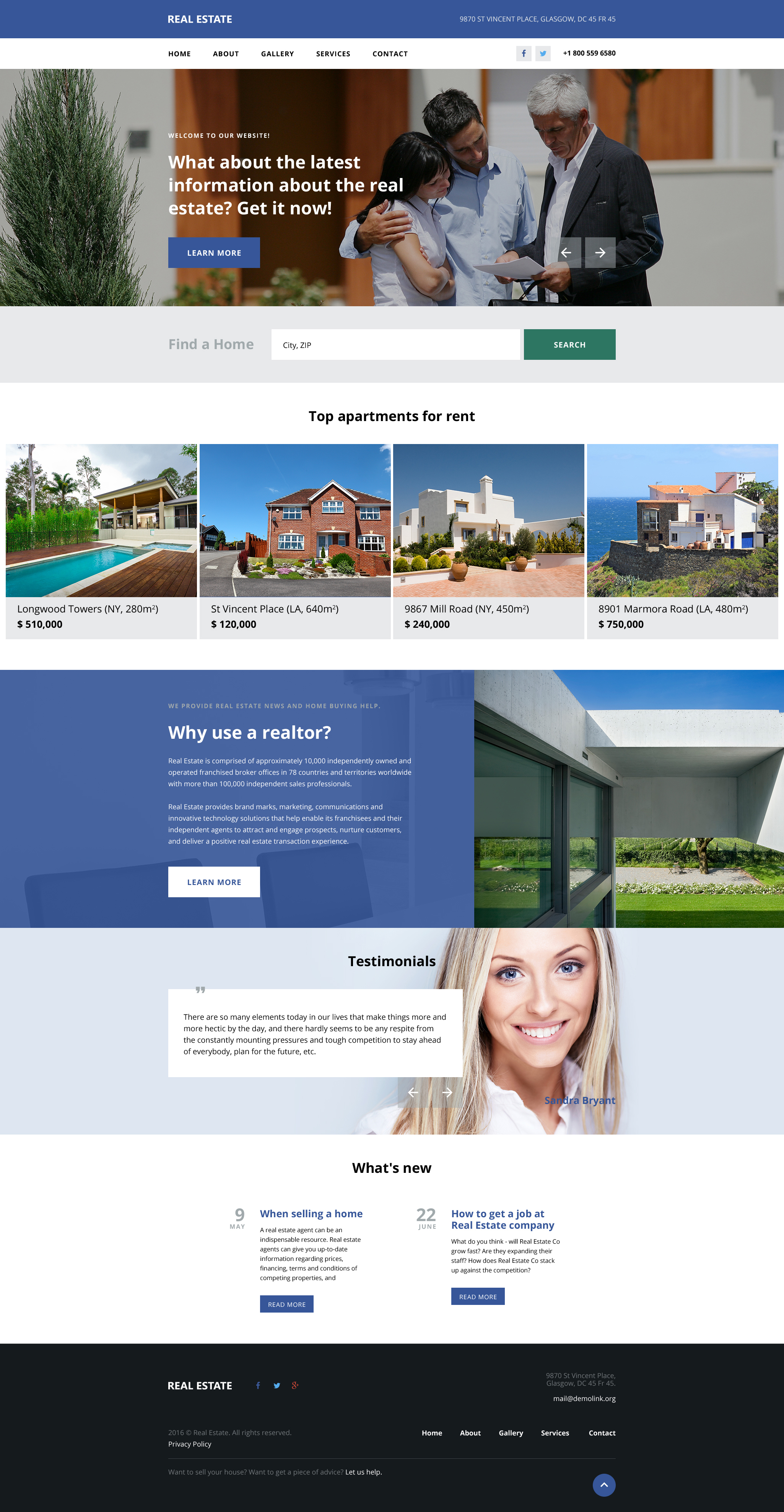 Real Estate Agency Website Templates