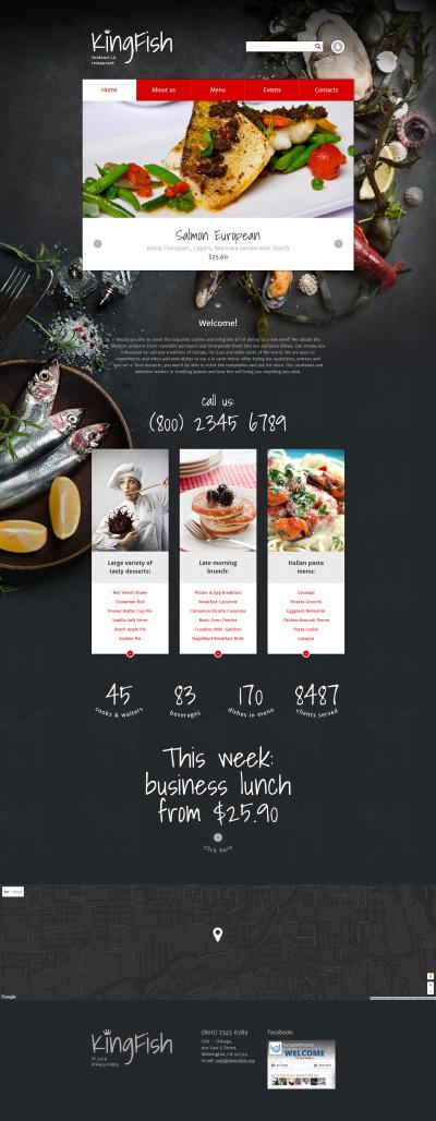 Seafood Restaurant Responsive Drupal Şablonu