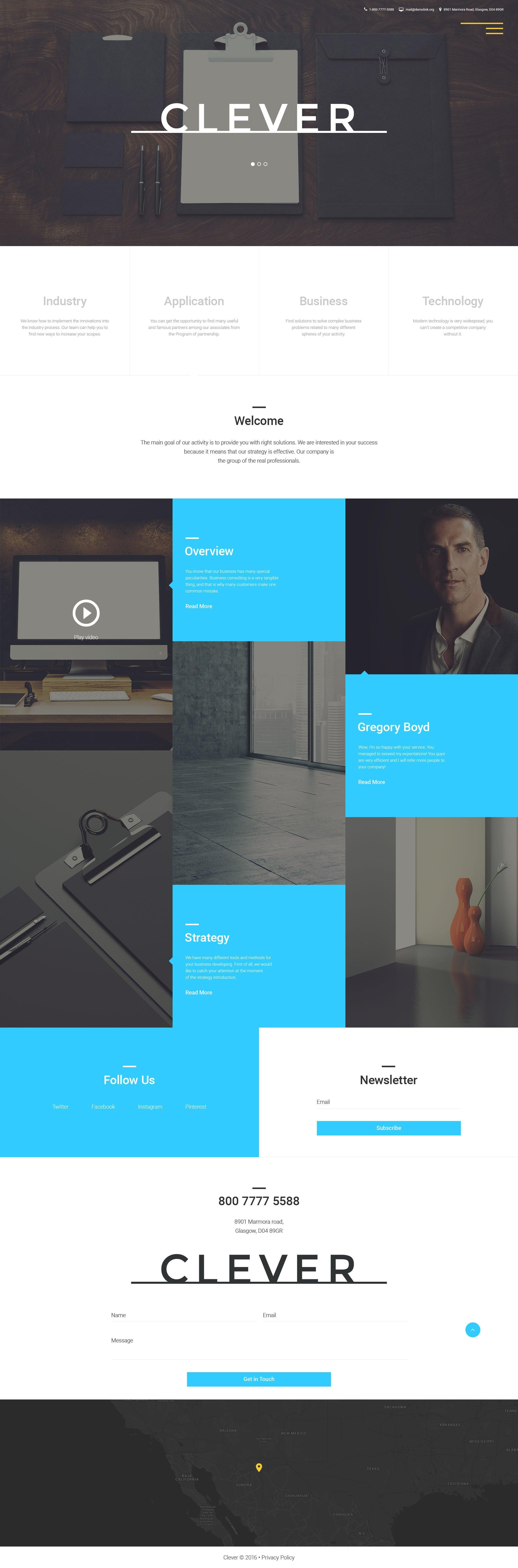 Responsive Joomla Vorlage für Business und Dienstleistungen #57867 - Screenshot