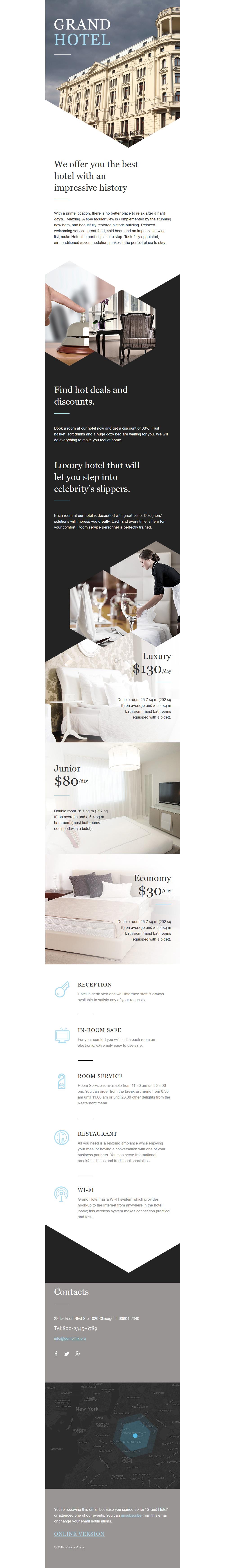 Responsive Newsletter Vorlage für Hotels #57888