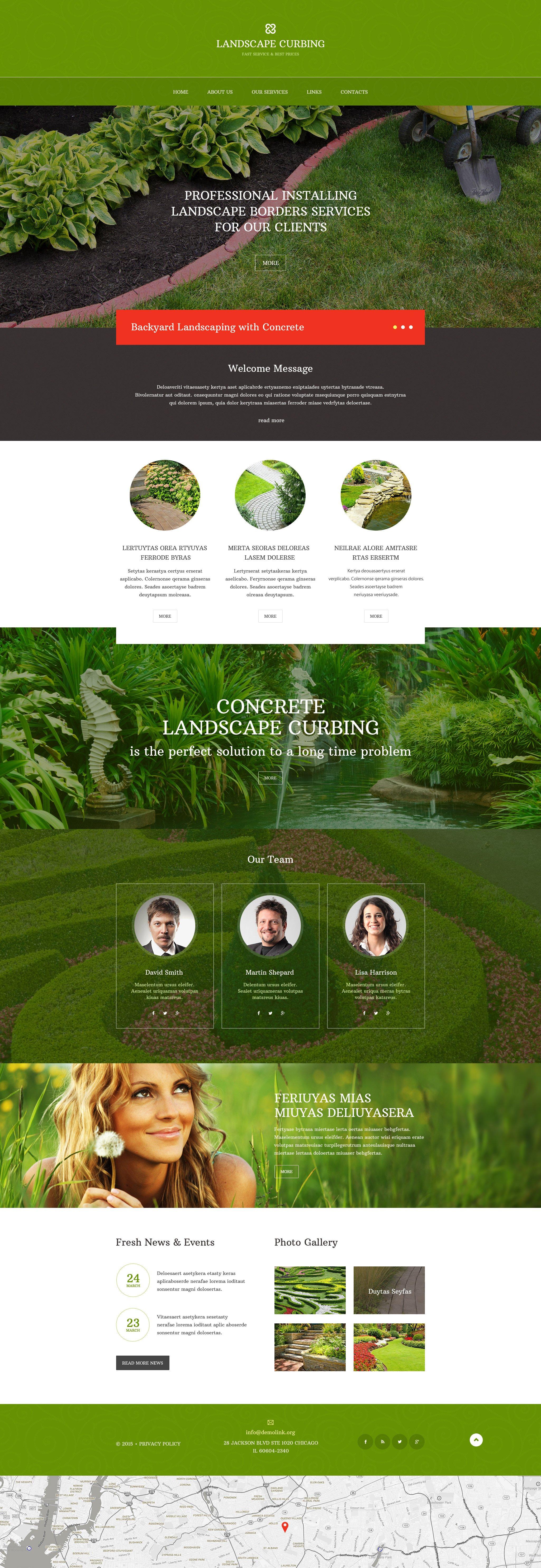 Responsive Website template over Landschapsontwerp №57859