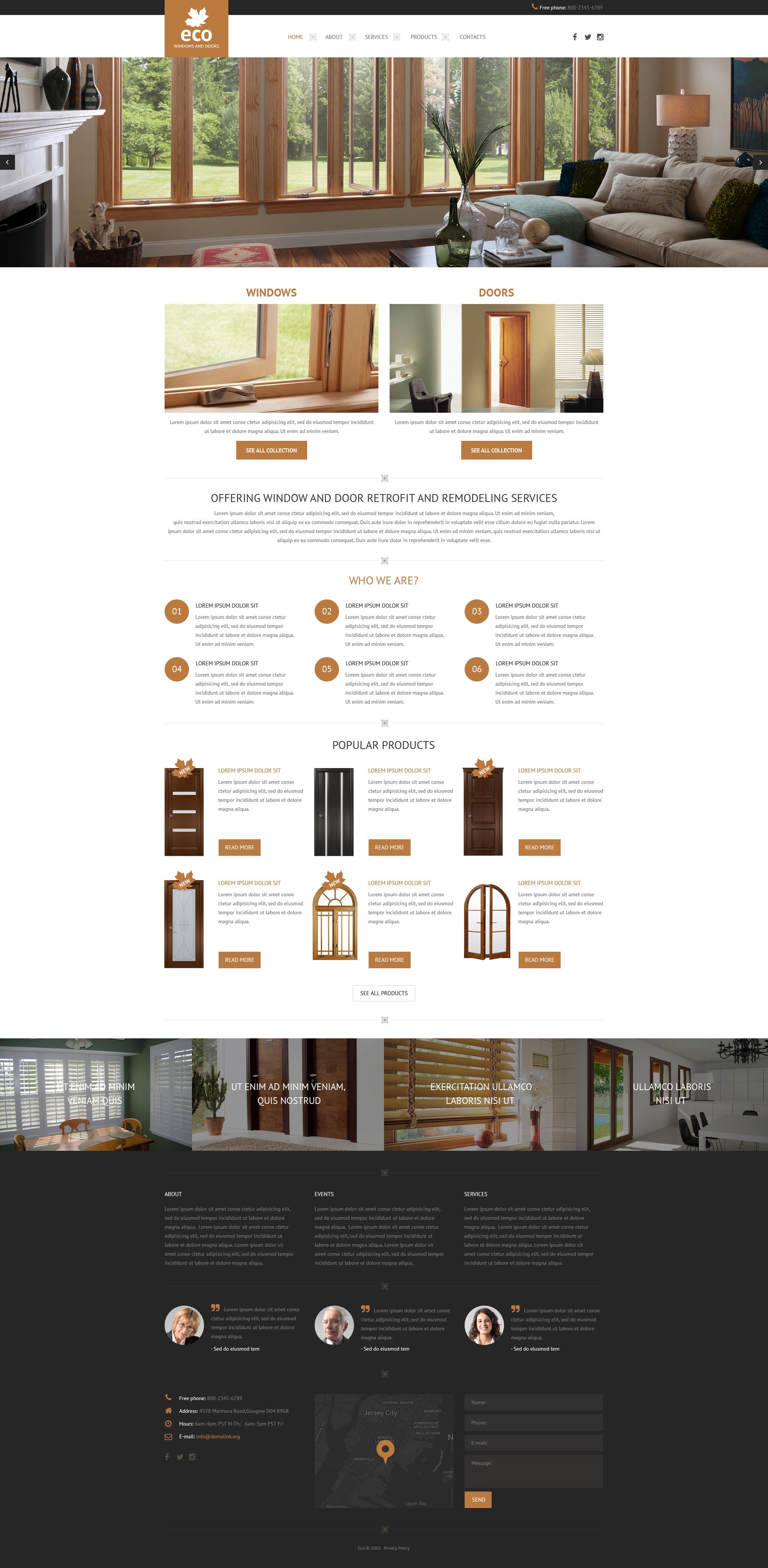 Responsive Website Vorlage für Fenster #57898 - Screenshot