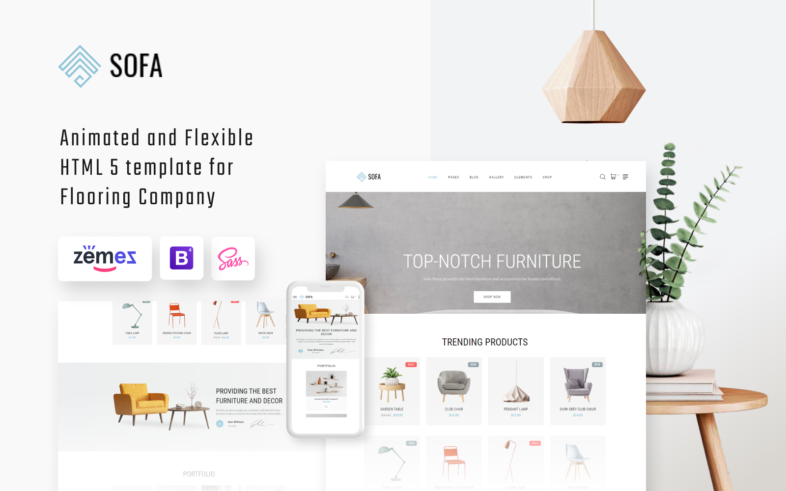 Responsivt Sofa - Furniture Multipage Modern HTML Hemsidemall #57820