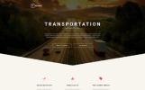 Responsywny szablon strony www #57806 na temat: transport