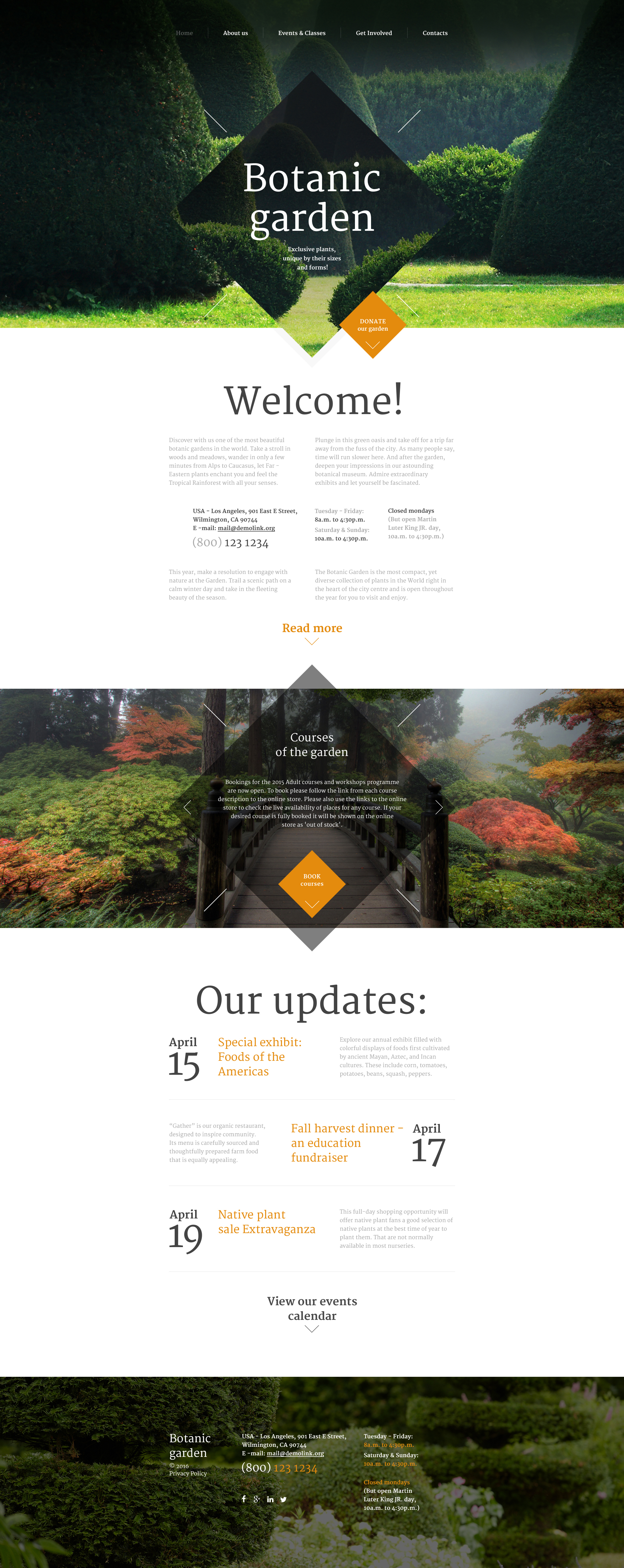 Responsywny szablon strony www Botanic Garden #57871