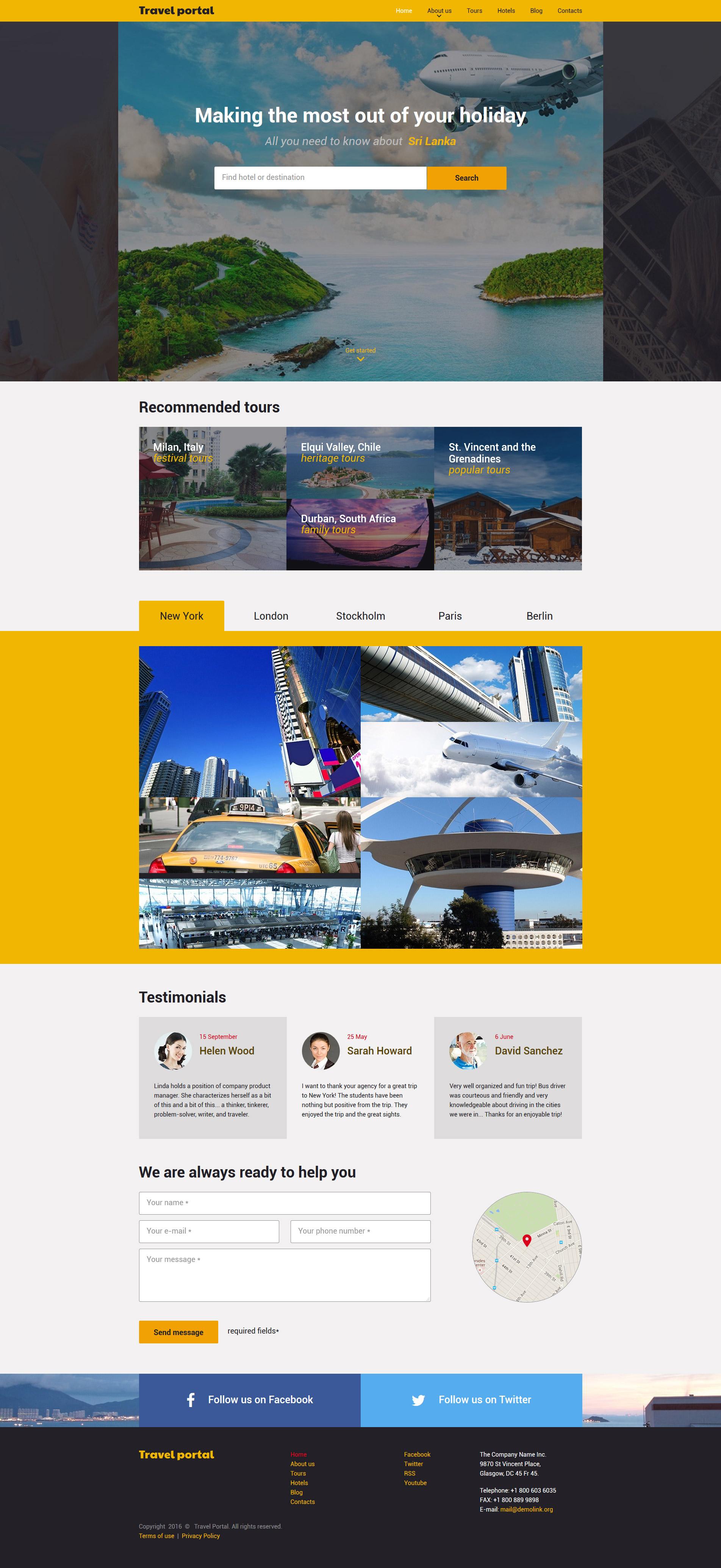 Responzivní Šablona webových stránek na téma Cestování #57801