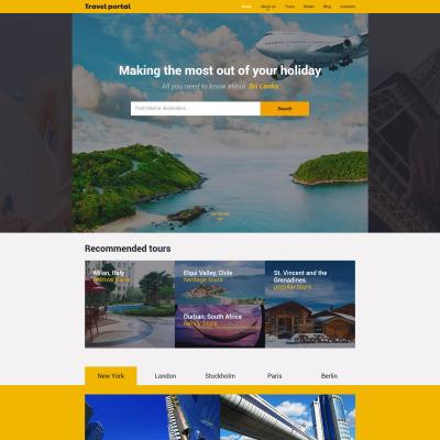Travel Responsive Šablona Webových Stránek