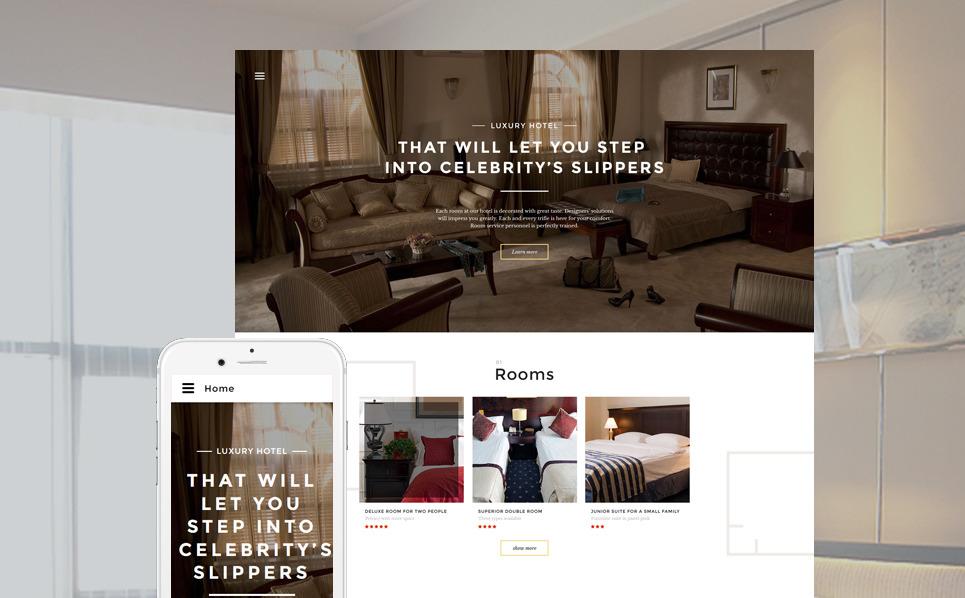 Responzivní Šablona webových stránek na téma Hotely New Screenshots BIG