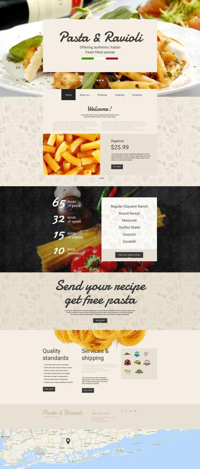 Italian Restaurant Responsive Šablona Webových Stránek