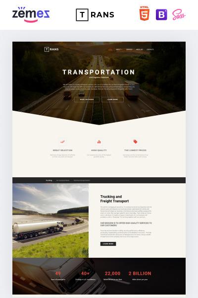 Transportation Responsive Šablona Webových Stránek
