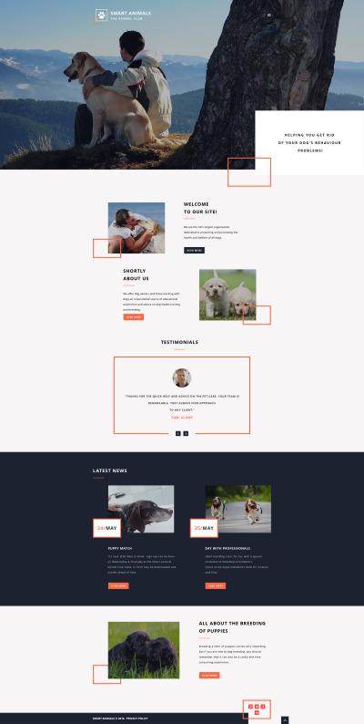 Dog Responsive Šablona Webových Stránek