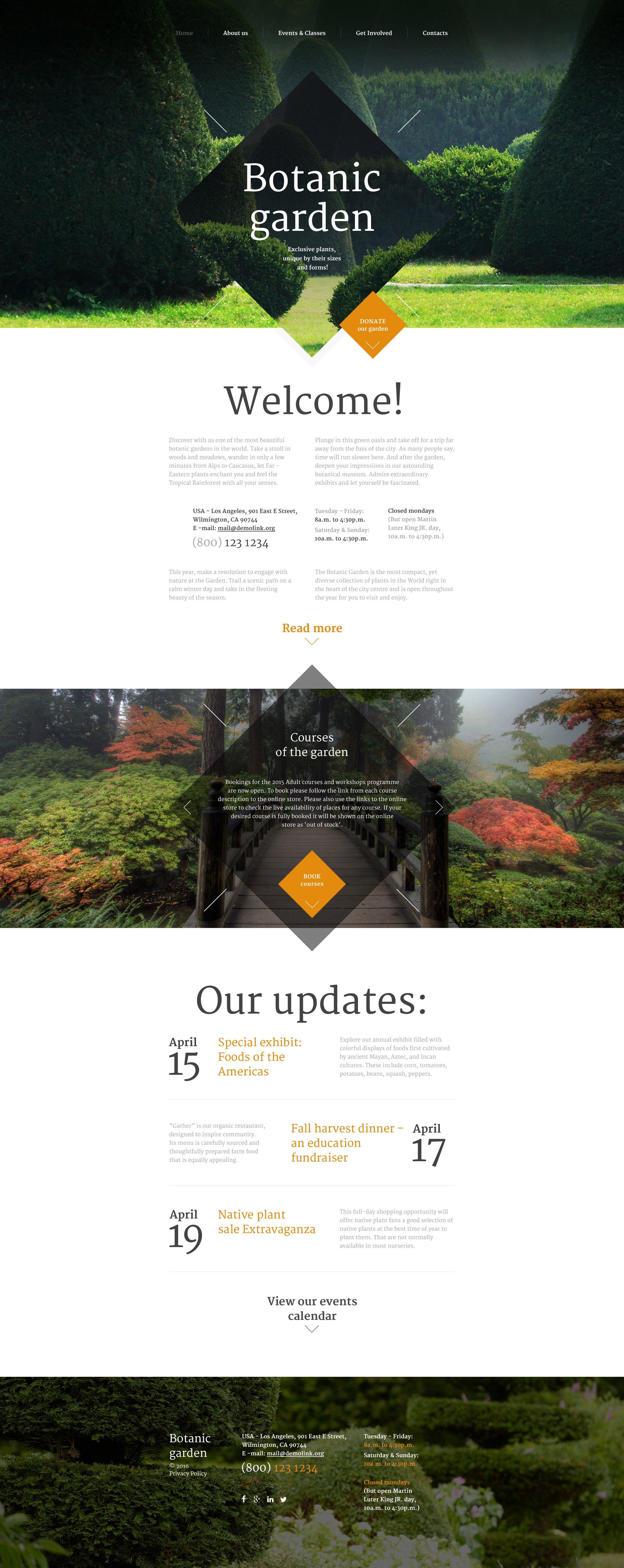 Reszponzív Botanic Garden Weboldal sablon 57871
