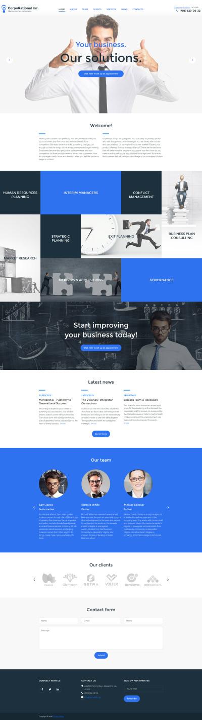 Accounting Website Responsive WordPress Sablon