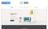 Reszponzív Sofa - Furniture Multipage Modern HTML Weboldal sablon
