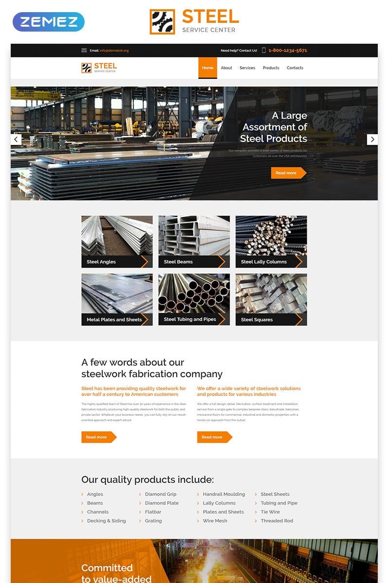 Reszponzív STEEL - Service Center Responsive Modern HTML Weboldal sablon 57819