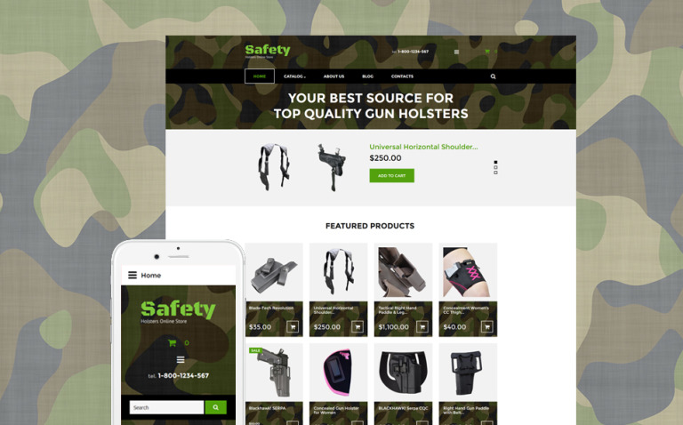 Safety VirtueMart Template New Screenshots BIG