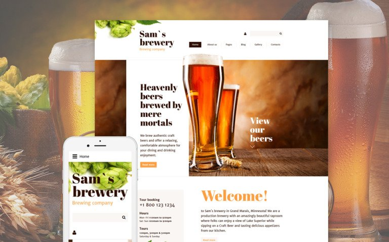 Sam's Brewery Joomla Template New Screenshots BIG