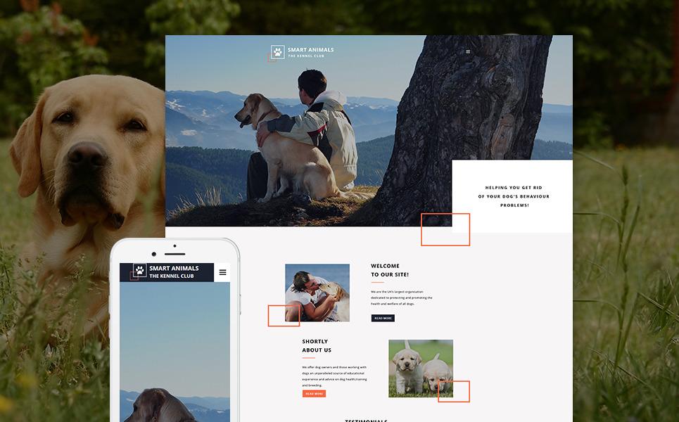 Smart Animals Website Template New Screenshots BIG