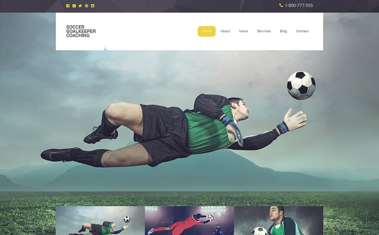 Soccer Responsive Website Template