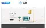 """Sofa - Furniture Multipage Modern HTML"" modèle web adaptatif"