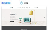 Sofa - Furniture Multipage Modern HTML Template Web №57820