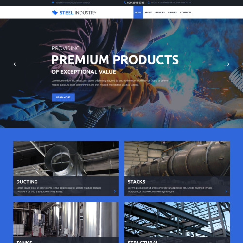 Steel Industry - Website Template based on Bootstrap