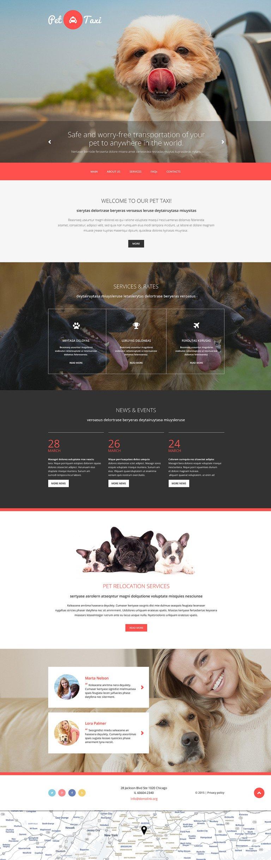 Taxi Responsive Website Template New Screenshots BIG