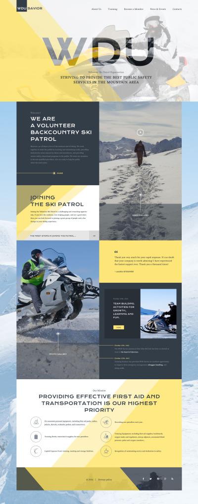 Skiing Responsive Template Siti Web