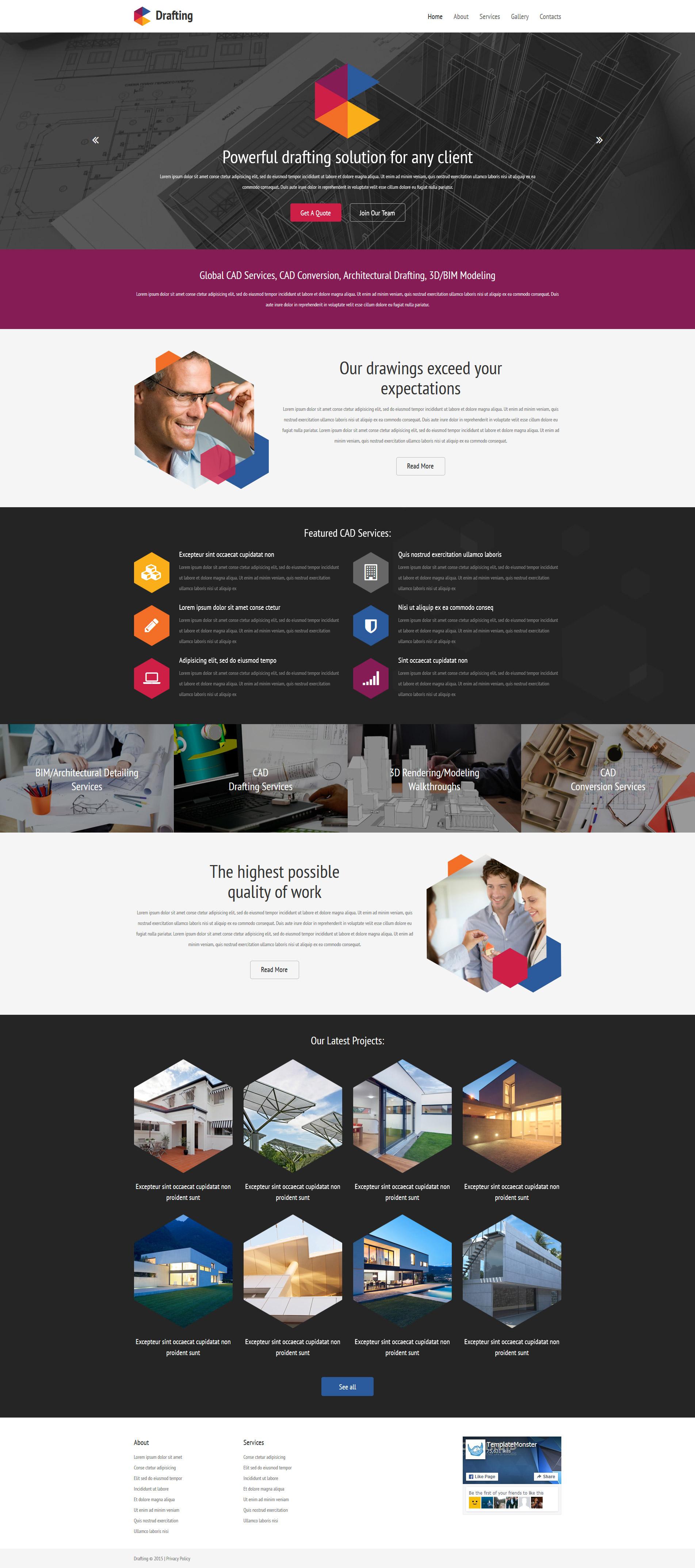Tema Siti Web Responsive #57885 per Un Sito di Progettazione Architettonica