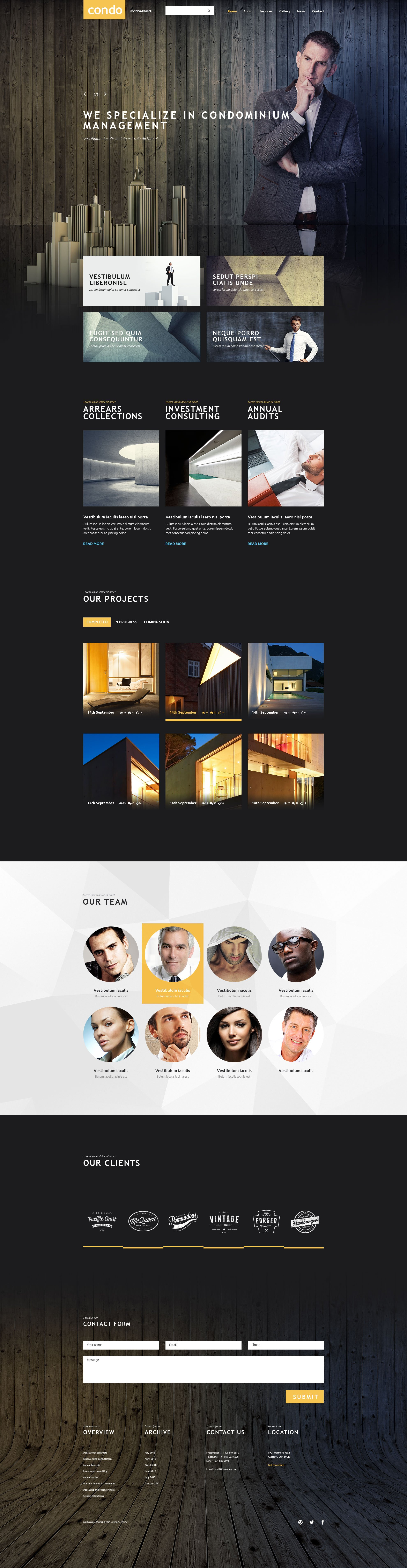 Template siti web per un sito di societ di gestione for Siti web di costruzione domestica