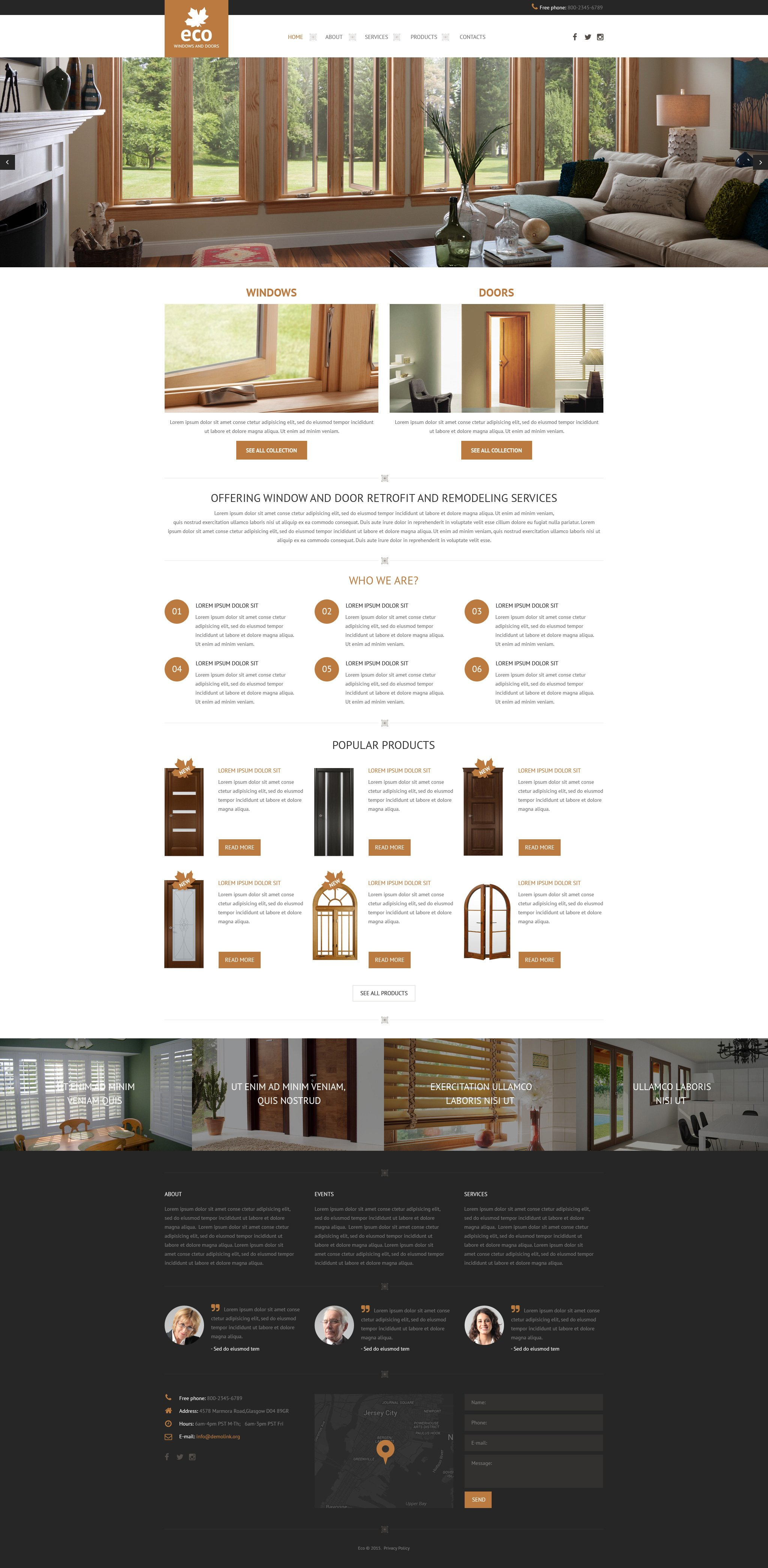 Template Web Flexível para Sites de Janela №57898 - screenshot