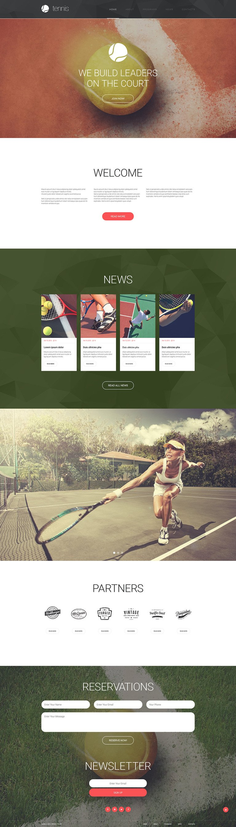 Tennis Responsive Website Template New Screenshots BIG