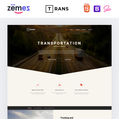Trans - Website Template based on Bootstrap