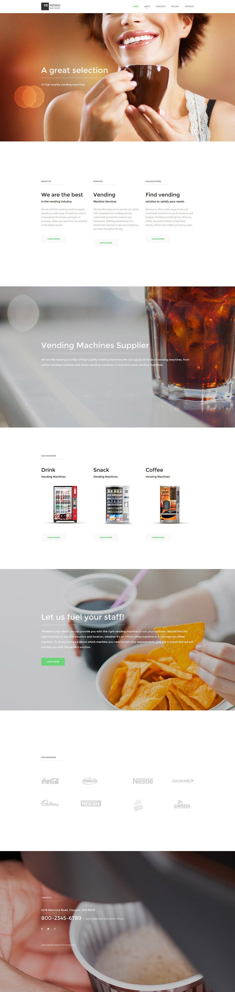 Vending Machines Responsive Website Template New Screenshots BIG