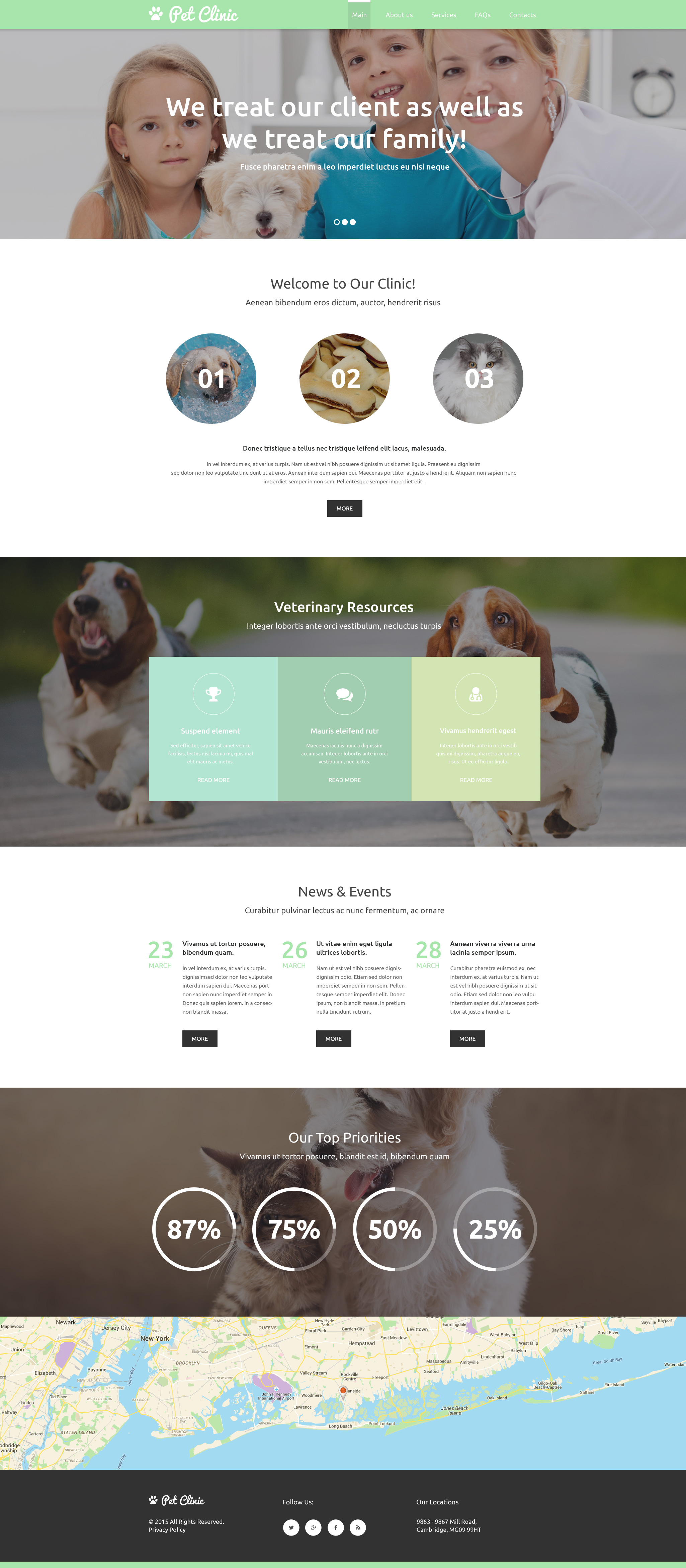 Vet Responsive Website Template