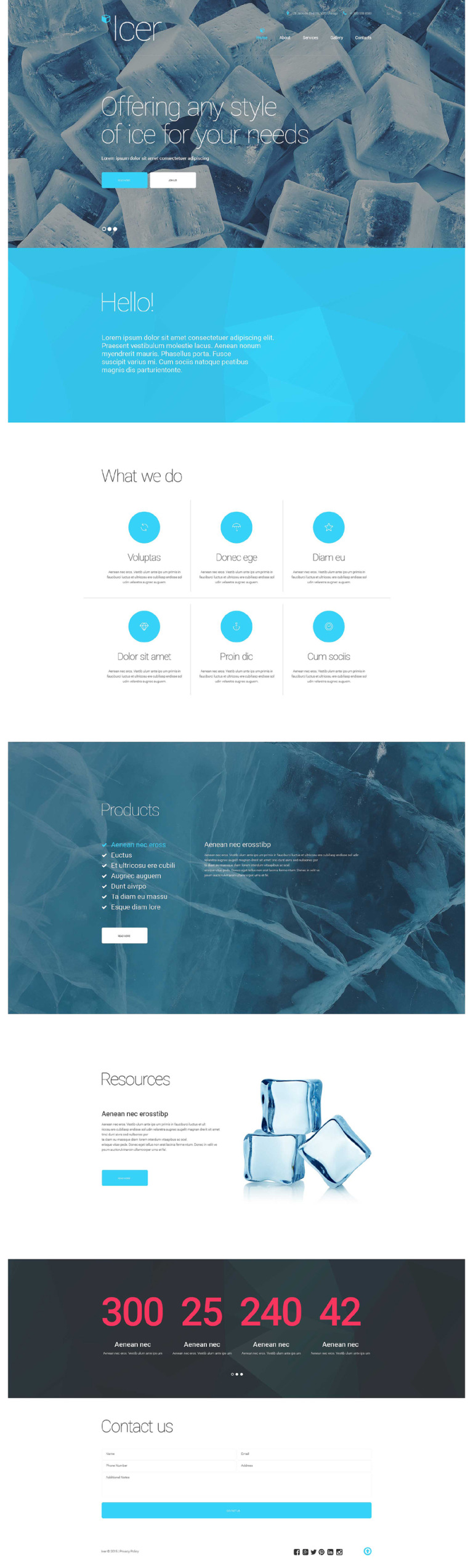 Water Responsive Website Template New Screenshots BIG