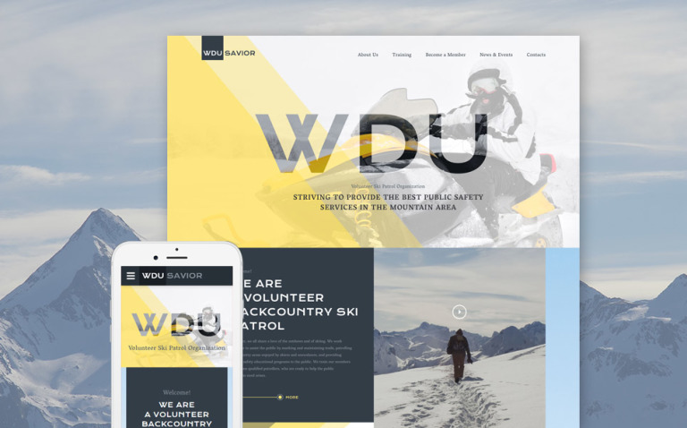 WDU Savior Website Template New Screenshots BIG