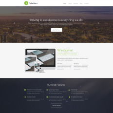 Web Development Website Templates with Parallax Scrolling Effect