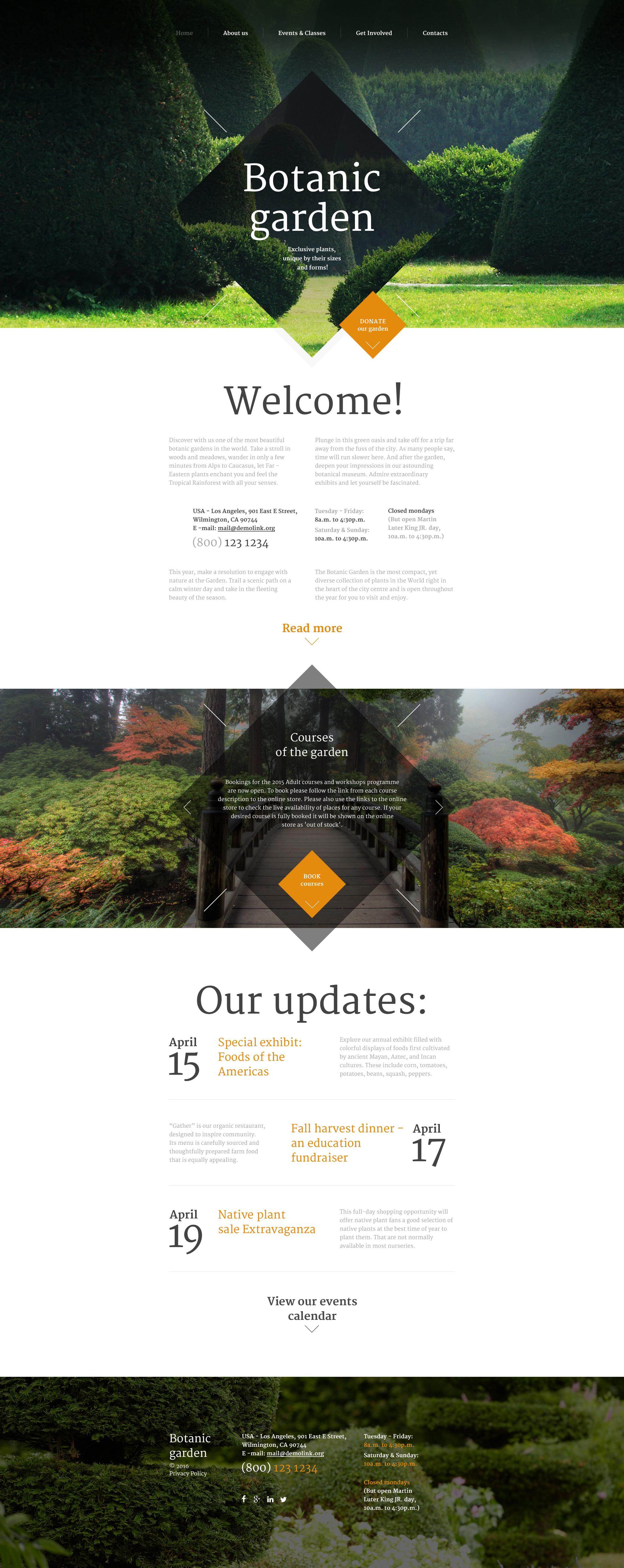"""Website Vorlage namens """"Botanic Garden"""" #57871"""
