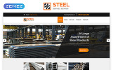 "Website Vorlage namens ""STEEL - Service Center Responsive Modern HTML"""