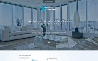 Window Construction - Windows & Doors HTML Bootstrap Landing Page Template