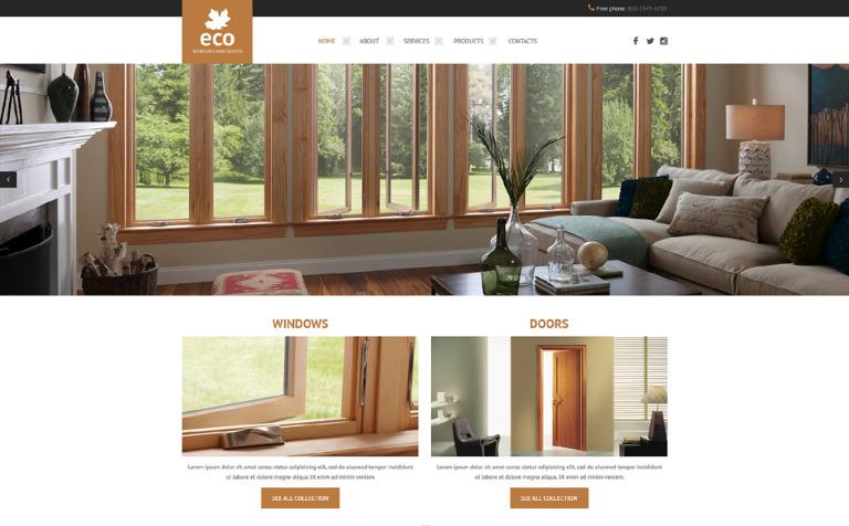Windows & Doors Responsive Website Template